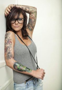 Tattooed Girls With Glasses   Inked Magazine - Part 4