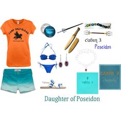 """""""Daughter of Poseidon Cabin 3 Summer"""" (except for the bikini) Percy Jackson Cabins, Percy Jackson Art, Percy Jackson Fandom, Super Hero Outfits, Cool Outfits, Greek God Costume, Percy Jackson Outfits, Daughter Of Poseidon, Fandom Fashion"""