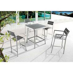 Megapolis Grey Brushed Aluminum Bar Chair