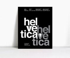 16x20 Gicleè Suisse Swiss Helvetica Type Specimen Poster. $29.00, via Etsy.