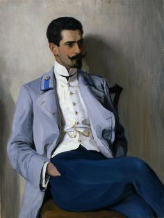 """Nikolai Petrovich Bogdanov-Belsky: """"Portrait of K.A. Gorchakov"""", 1890/1910, oil on canvas, Dimensions:Height: 106.8 cm (42.05 in.), Width: 80.1 cm (31.54 in.), Location:The State Hermitage Museum - St Petersburg  (Russian Federation - St. Petersburg)."""