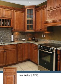 The New Yorker kitchen. Discounted kitchen cabinets by Kitchen Cabinet Kings - Buy Kitchen Cabinets Online and Save Big with Wholesale Pricing!