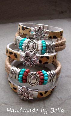 NIEUW DIY armbanden van leer | 3 | bellakralen