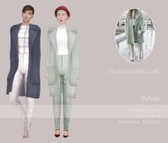 Female Fashion Set for The Sims 4 by Ryllae