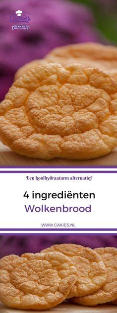Wolkenbrood is een koolhydraatarm alternatief voor brood. Deze versie van wolkenbrood wordt gemaakt met yoghurt in plaats van roomkaas. Een makkelijk wolkenbrood recept met maar 4 ingrediënten. #wolkenbrood #koolhydraatarm #recept