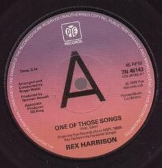 Rex Harrison - One Of Those Songs | £6.10