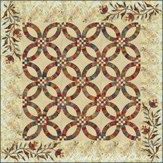 A different version of double wedding ring - I like it Laundry ... : edyta sitar quilt patterns - Adamdwight.com