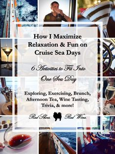 How I Maximize Relaxation & Fun on Cruise Sea Days (6 Activities to Fit Into One Sea Day: Exploring, Exercising, Brunch, Afternoon Tea, Wine Tasting, Trivia) for Carnival Cruises, Princess, Royal Caribbean, MSC, Disney, Celebrity, Norwegian, cruise tips, hacks, what to do, cruise blogger) #disneycruise #cruisestips