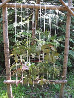 Earth Loom - located one near the front gate so that guests and delivery people can add to the weaving if they wish......