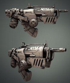 The Hammerburst II High-Poly