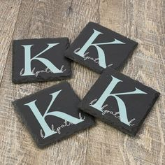 a Personalized Gifts For Grandparents, Personalized Housewarming Gifts, Personalized Coasters, Unique Gifts For Couples, Couple Gifts, Slate Coasters, Slate Stone, Bar Gifts, Practical Gifts