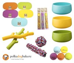 "Polka Dog Bakery is a pet shop and bakery in Boston, and their ""shop"" at Target is full of cute, colorful toys, bowls, mats, collars and, of course, yummy and wholesome baked treats."