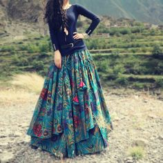 Satin+Multicolour+Floral+Print+Semi+Stitched+Lehenga+-+MLT at Rs 1599
