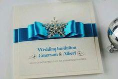 Crystal wedding invitations