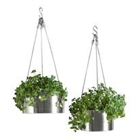 This modern stainless steel planter defies temperature and time. Even the steel cables are contemporary and cool. Great for indoor houseplants too. In two different sizes.