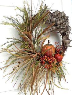 Fall Wreath for Door Pumpkin Thanksgiving Decor Fall Decor