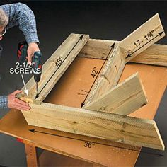 easy bench..measurements and angles. Part 2