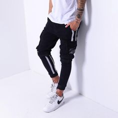 👉 The US fashion industry is a multi-BILLION $$$ industry and growing! With more brands coming up, you need to find brands that offer quality products and is reliable! Don't get lost, find out why we have such a loyal fan group! 💣  Cargo Jeans White Side Stripes Regular price $67.99  #ootd #mensfashionpost #lookbook #guyswithstyle #mensfashion #menwithstreetstyle #outfitoftheday Grunge Fashion, Men's Fashion, Casual Outfits, Men Casual, Cargo Jeans, Men With Street Style, Modern Fashion, Mens Suits, Everyday Fashion