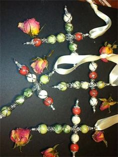 Beads Made From Funeral Flowers And A Special Flower Given