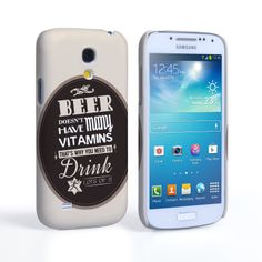 Caseflex Samsung Galaxy S4 Mini Beer Label Quote Hard Case – Brown #BeerMat #BeerLabel #Typography #Quote #Beer #StPatricksDay #Gift #Present #Samsung #Galaxy #S4Mini #GalaxyS4Mini #SamsungS4Mini #Case #Cover #HardCase #PhoneCover #Holiday #Celebration
