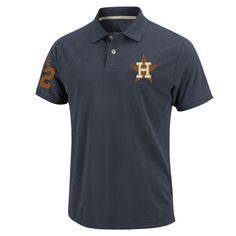 Houston Astros Cooperstown Majestic Bogee Polo Shirt
