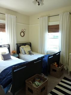 Guest Bedrooms with Twin Beds | place, we put guests in our twin girls' room with the twin beds ...