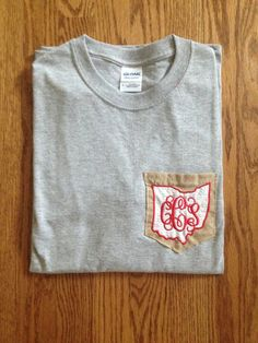 Red, White,  Burlap Pocket T-Shirt from YourEverydaySweetie - $10+  SO SUPER CUTE. IN LOVE