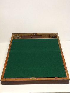 Antique vintage lap desk writing box wood box by Glassthatrocks, $125.00