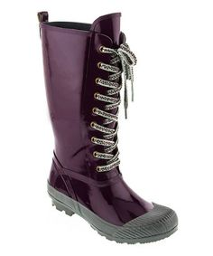 Look what I found on #zulily! Plum Awesome Rain Boot by Dizzy Shoes #zulilyfinds
