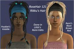 nathanialroyale | [Sims 2] Two Hair Recolors (and One Re-texture!)