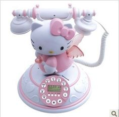 novelty items antique classic caller ID  telephone CID beautiful hello Kitty toys for children home decoration kit $49.99