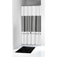 Sealskin Barcode douchegordijn 1800 x 2000mm zwart, E20,--