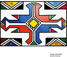 Esther Mahlangu Is Keeping Africa's Ndebele Painting Alive National African American Museum, African Tattoo, African House, Afrique Art, African Theme, Black And White Canvas, South African Artists, African Culture, African Design