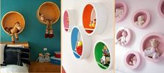 16 Creative Shelving Ideas to Decorate Your Home-Round Shelves for Kids Room