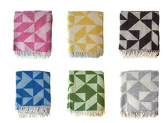 I would love a few of these wool blankets. Modern pattern and colors are perfect.