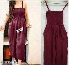 Jumpsuits Classy Latest Women Jumpsuit Fabric: Rayon Sleeve Length: Sleeveless Pattern: Solid Multipack: 1 Sizes:  XS (Bust Size: 28 in Length Size: 46 in Waist Size: 26 in) S (Bust Size: 30 in Length Size: 46 in Waist Size: 28 in) M (Bust Size: 32 in Length Size: 46 in Waist Size: 30 in) L (Bust Size: 34 in Length Size: 46 in Waist Size: 32 in) Country of Origin: India Sizes Available: XS, S, M, L   Catalog Rating: ★4.1 (3940)  Catalog Name: Free Gift Classy Latest Women Jumpsuits CatalogID_832262 C79-SC1030 Code: 692-5565056-486