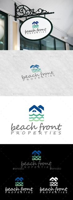 Beach Front Properties by eclectikontent The logo design emphasis mainly on property/real estate business on coastal and beach side areas. Roof and waves graphics shows s