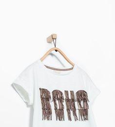 Imagem 1 de T-shirt franjas boho da Zara