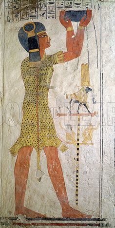 An Inmutef priest making an offering, from the Tomb of Ramesses IX