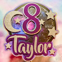 Your place to buy and sell all things handmade Galaxy Cake Topper - Celestial Party Decorations - Glitter Age & Name Topper - Confetti Shaker Cake Topper. Bolo Moana, Galaxy Cake, Fondant Animals, Wedding Cake Designs, Wedding Cakes, Paper Crafts, Diy Crafts, Floral Cake, Cute Cakes