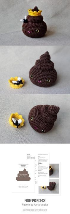 Poop Princess Amigurumi Pattern