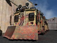The Mobile Command Vehicle - zombie apocalypse version, rendered.