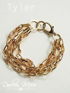 gold chain bracelet, $20