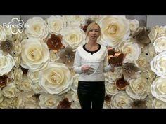 Большие цветы из бумаги. Лилия своими руками. - YouTube