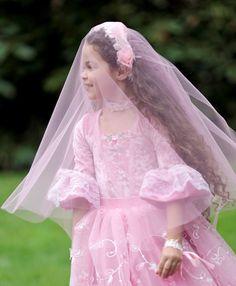 Items similar to Rosette Princess Ballgown S, M, L on Etsy Cute Dresses, Flower Girl Dresses, Baby Baptism, Princess Costumes, Rosettes, Kids Girls, Veil, Ball Gowns, Dress Up
