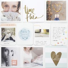 Project Life: Page Layout with lots of gold Project Life Scrapbook, Project Life Album, Project Life Layouts, Project Life Cards, Pocket Page Scrapbooking, Scrapbook Pages, Scrapbook Templates, Life Journal, Journal Cards