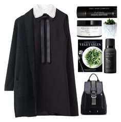 b l a c k by credendovides on Polyvore featuring polyvore, fashion, style, Valentino, H&M, Living Proof, Martha Stewart and clothing