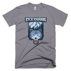 "MTNBK ""Mountain Wolf"" T-Shirt - Slate, available on www.MTNBK.com"