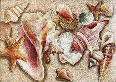 Панно из мозаики 'Ракушки'