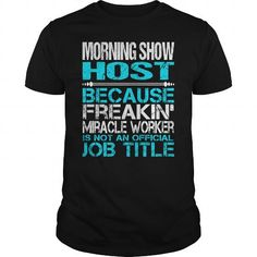 Awesome Tee For Morning Show Host T Shirts, Hoodie